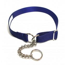 Webbing Collar, Easy-Fit No Buckle, Blue