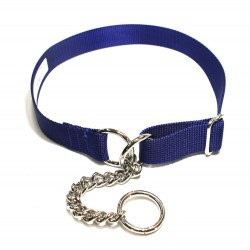 Webbing Collar, Easy-Fit No Buckle, Blue