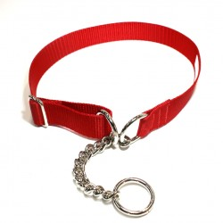 Webbing Collar, Easy-Fit No Buckle, Red