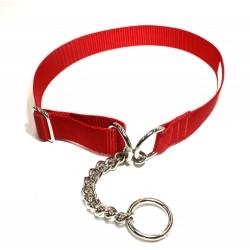 Webbing Collar, Easy-Fit No Buckle, Red