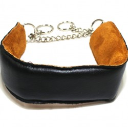 Black Leather Puppy Collar