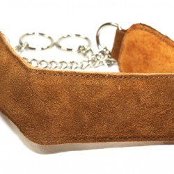 Brown Suede Puppy Collar