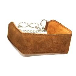 Brown Suede Puppy Collar