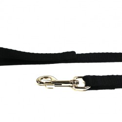10m Soft Cotton Recall Lead, 20mm Wide, Black