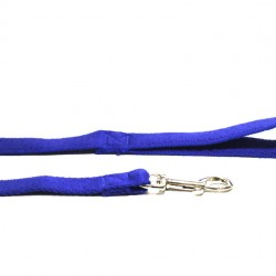 10m Soft Cotton Recall Lead, 20mm Wide, Blue