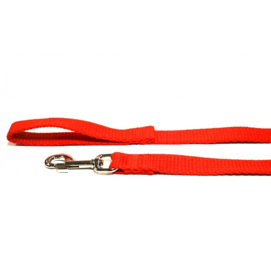 2m Soft Cotton Lead, 20mm Wide, Red